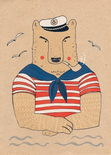Plakat Miś Kapitan