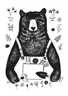 Plakat Miś Ogrodnik