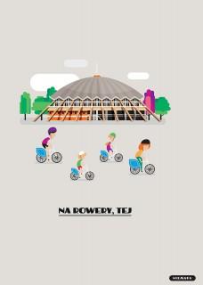 Plakat Na rowery, tej