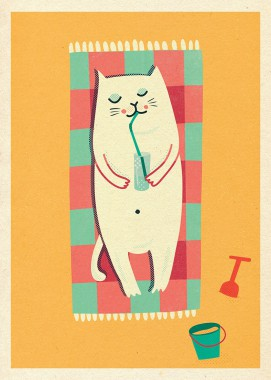 Kot z wiaderkiem