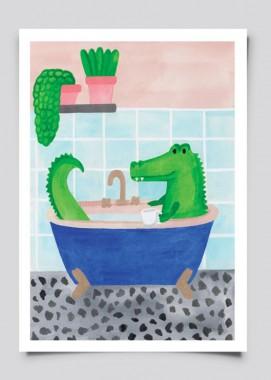 Krokodyl w wannie
