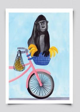 Goryl na rowerze