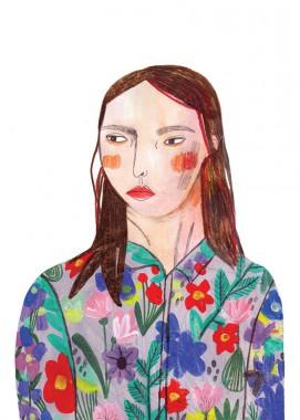 Floral shirt girl