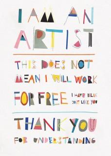 Plakat I am an artist