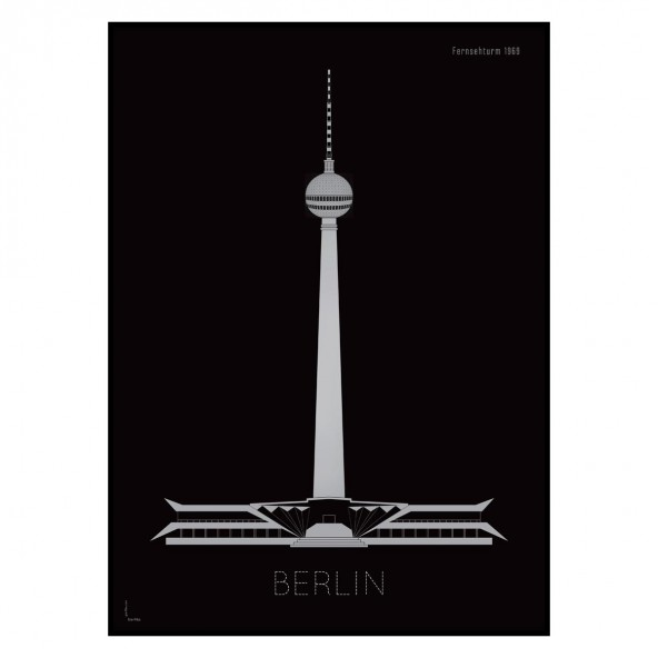 Grafika Berlin by night / Fernsehturm