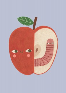 Apple & worm