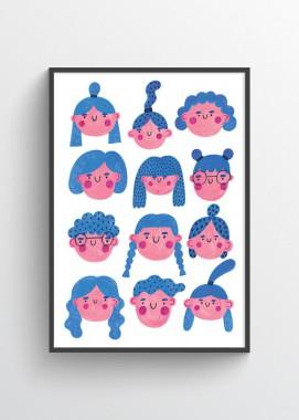 Blue girls