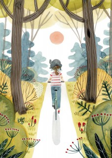 Rowerem przez las