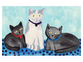 Plakat Trzy koty