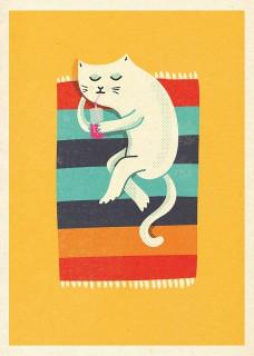 Plakat Kot plażowy