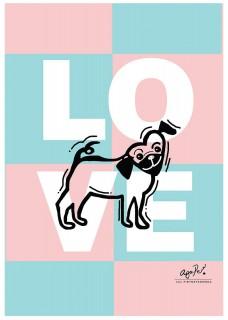Plakat Mops love