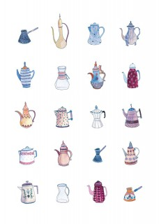 Plakat Coffee pots