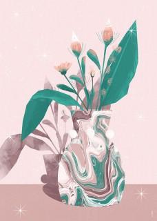 Plakat Wazon z kwiatami