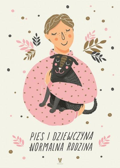 Pies i dziewczyna