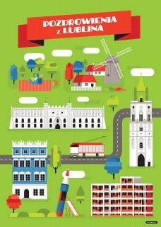 Plakat Pozdrowienia z Lublina