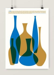 Grafika Vases (niebieski)