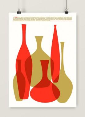 Grafika Vases (czerwony)