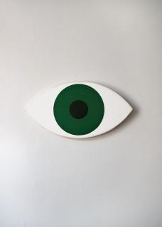 Dekoracja ścienna Oko butelkowa zieleń