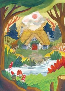 Plakat Chatka w lesie