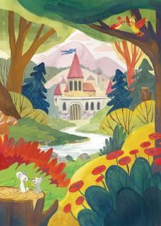 Plakat Zamek w lesie