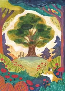 Plakat Wielkie drzewo