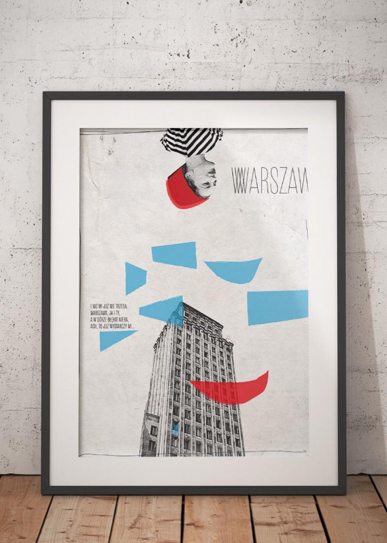 Plakat Warszawa Magdaleny Pilaczyńskiej W Wallbeingcom